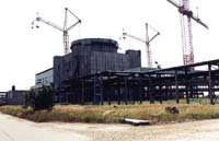 [ Picture: Unfinished Crimean nuclear power station ]